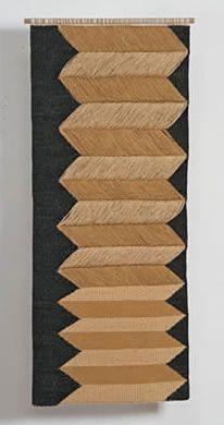 """Carolina Yrarrazaval - Handwoven, LInen, Cotton,  56"""" X 24, 2009"""