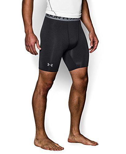 Under Armour Men's HeatGear Armour Compression Shorts - Mid Black/Steel Medium