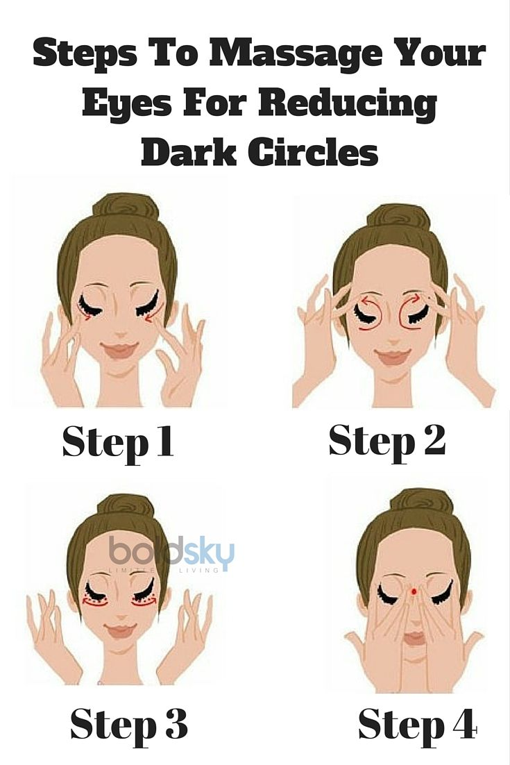 Follow this step by step massage for reducing dark circles! Take a look.