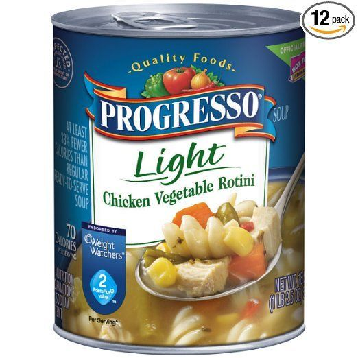 Progresso Light Soup, Chicken Vegetable Rotini, 18.5 oz, 12 Pack