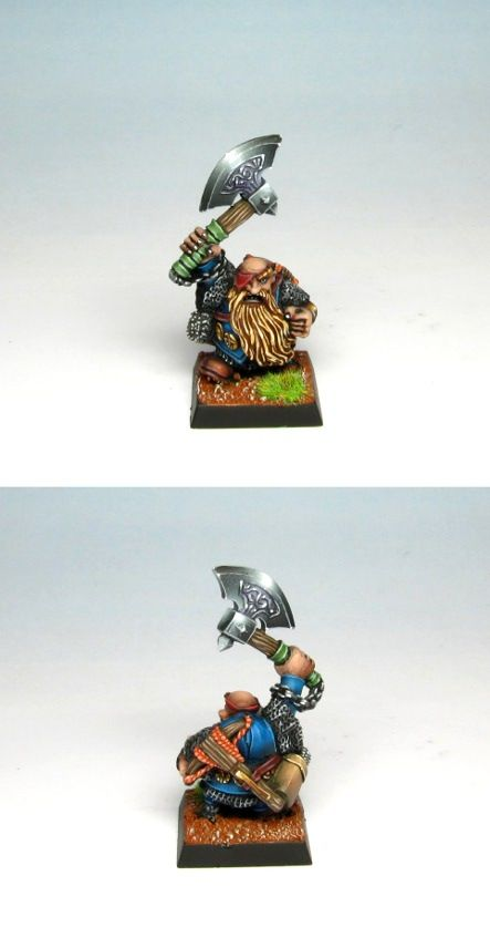 Dwarf Ranger painted for private colection. #dwarf #warhammer #miniaturepainting #bugman