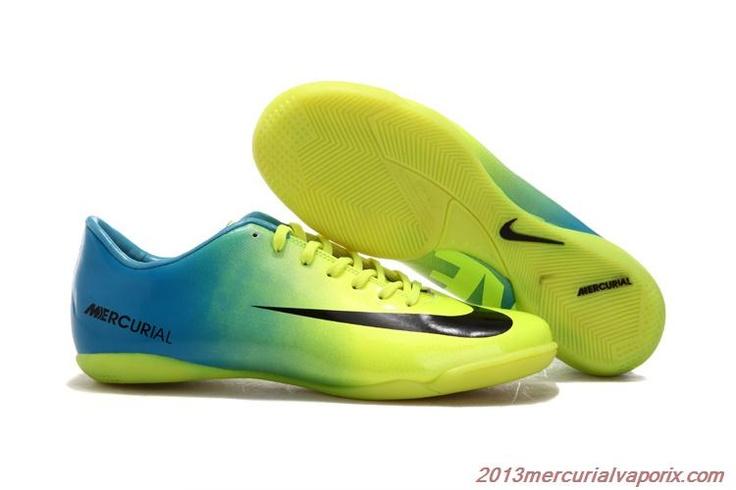 Cheap 2013 Nike Mercurial Vapor IX Indoor Glide III IC Indoor Soccer Cleats Black Green.jpg