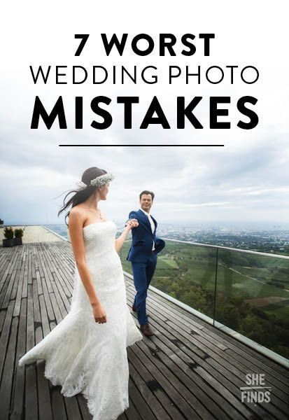 The photos you take on your wedding day will be cherished memories of this special event, and it goes without saying that you want those pictures to be as close to perfect as possible. So be sure to avoid these seven mistakes that can seriously ruin your wedding photos.