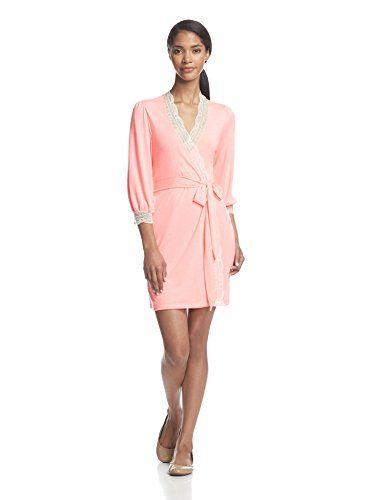 Eberjey Women's Hannah Cuff Robe (Pink Glow)