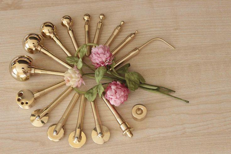 Бульки инструменты для цветов из ткани и кожи