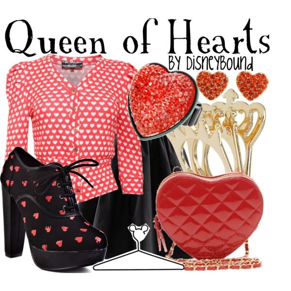 Queen of Hearts: Wonderland Disneybound, Disney Style, Disney 3, Disney Inspired, Alice In Wonderland, Devil Queens, Queen Of Hearts, Disney Bound, Disney Fashion