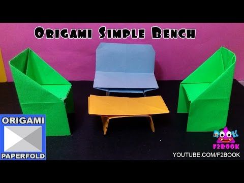 Origami How to make a Table - how to make Paper Folding instructions - F2BOOK Video 90 - YouTube