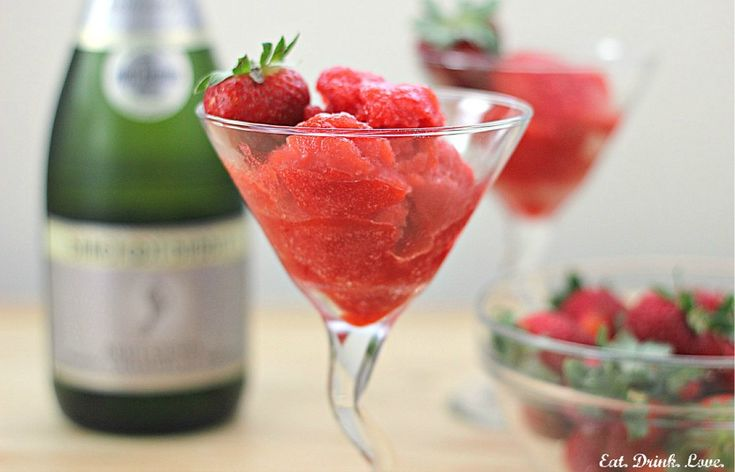 Strawberry Champagne Sorbet::: this would be good for bridesmaid ...