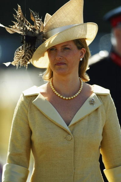 Sophie, Countess Of Wessex, arrives accompanying her husband, who took the salute at the 145th Sovereign's Parade at The Royal Military Academy, Sandhurst on August 6, 2004.