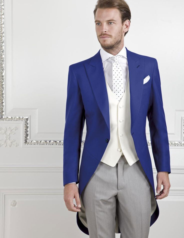 New Fashion Royal Blue Mens Dinner Party Prom Suits Groom Tuxedos Groomsmen Wedding Blazer Suits jacket+pants+vest+tie K:2163