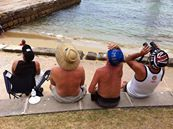 air planes, screaming past the harbour on Australia Day, the heads held high looking with amazement