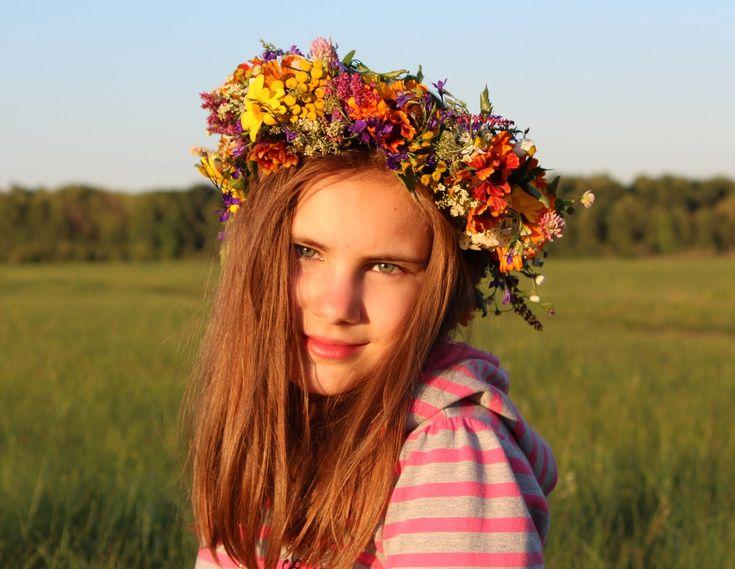 Girl, Baby, Wreath, Flowers, Smile, Joy, Rite, Fairy  FREE