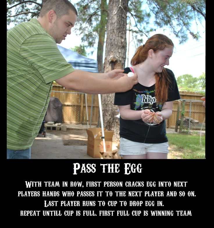 family fear factor pass the egg by LSS