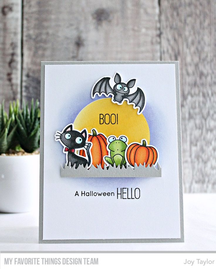 Witch Way Is the Candy? stamp set and Die-namics - Joy Taylor #mftstamps