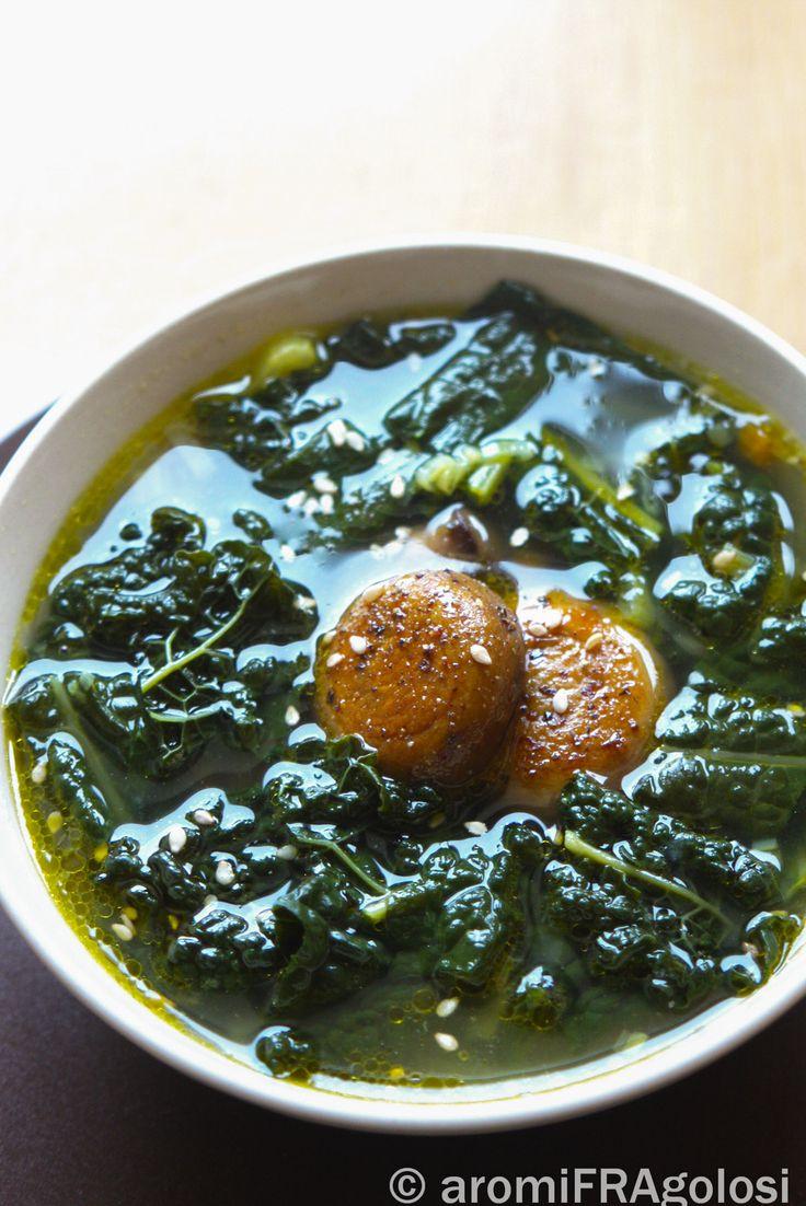 zuppa di cavolo nero e fagioli cannellini