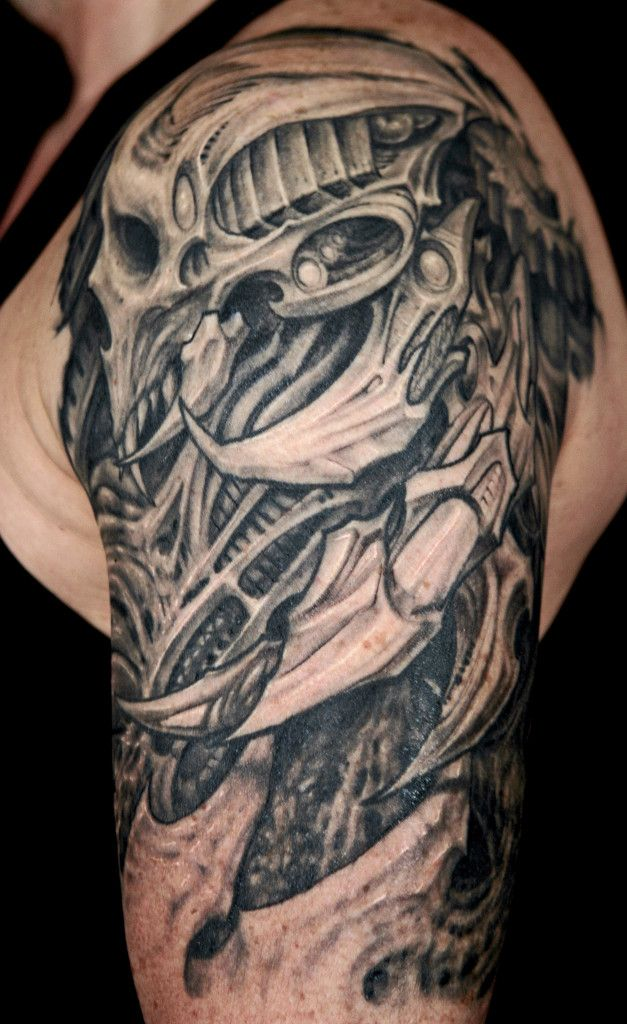 25 amazing biomechanical tattoos design skulls tattoo. Black Bedroom Furniture Sets. Home Design Ideas