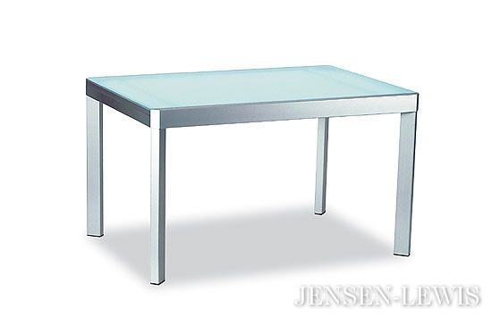 """Elasto Extension Dining Table  Calagaris Jensen&Lewis extends to 90.5""""     $1272.95 steel frame glass top in stock, special orders 4-12 wees"""