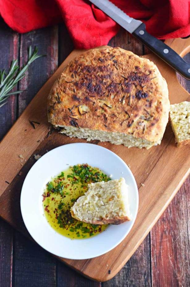 Rosemary Olive Oil Crock Pot Bread, Take 2! Plus a recipe for Olive Oil Herb Dip - Host The Toast