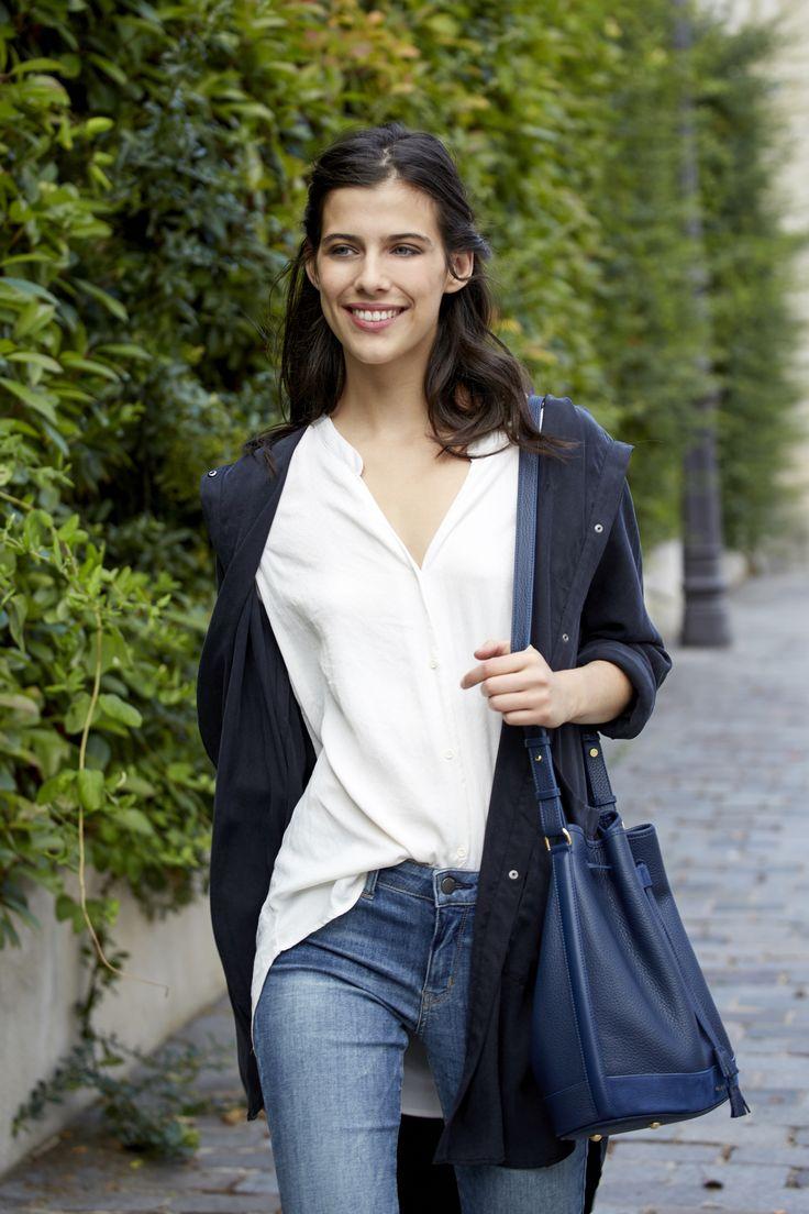 Numéro Quatre - Édition Trio Bleu - 250€ www.polene-paris.com #handbag #fashionstyle #newbrand #parisianstyle #bagaddict #fashionista