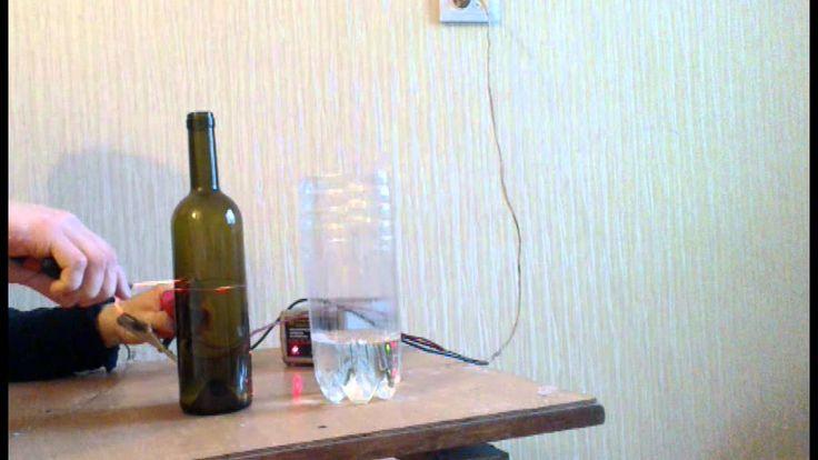 Два способа как разрезать бутылку без инструмента