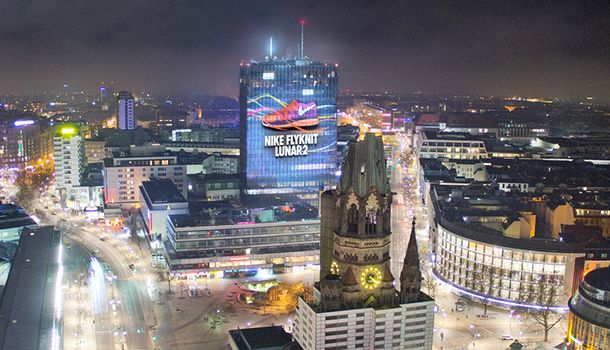 Mercedes Tower Berlin - Nike Flyknit Projection Mapping by Found.