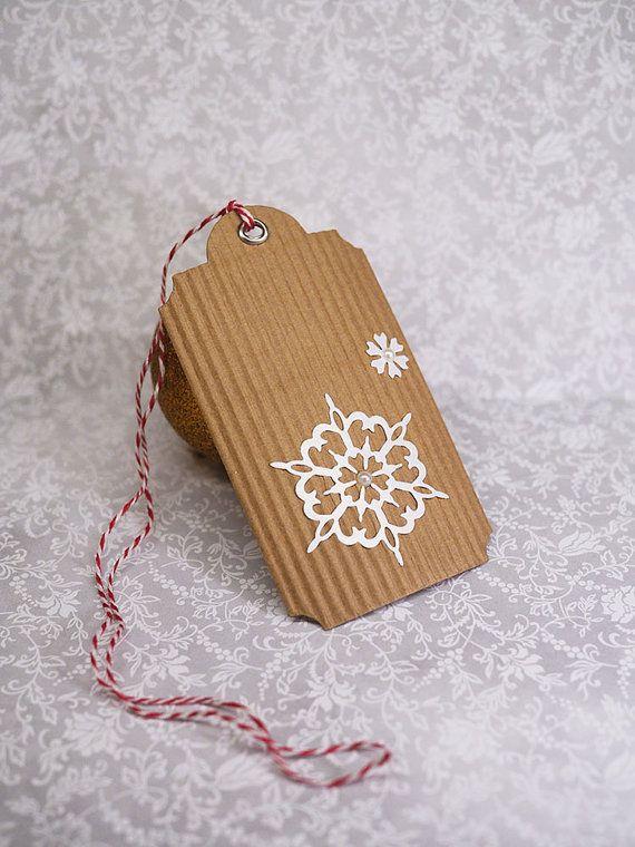 SNOWFLAKE GIFT TAGS Christmas gift tags Handmade by artMagnolia