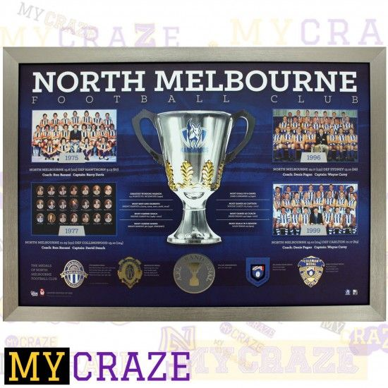 NORTH MELBOURNE FOOTBALL CLUB FRAMED MEMORABILIA PRINT AFL COA LIMITED 1000 - MyCraze #AFL #NorthMelbourne #NorthMelbourneFC #SportsMemorabilia #AussieFooty #Footy