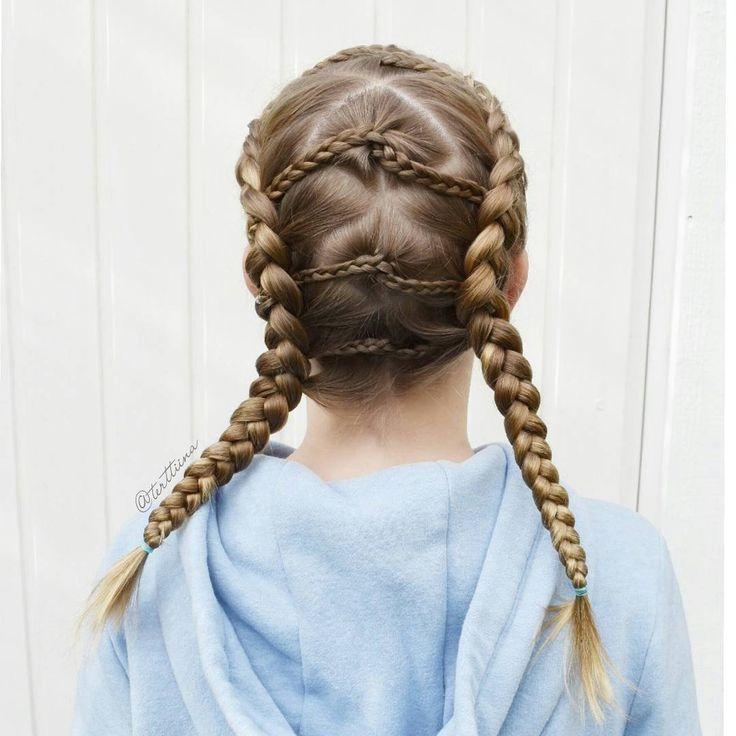 Braids & Hair by @terttiina Instagram: Dutch braids with accent braids!