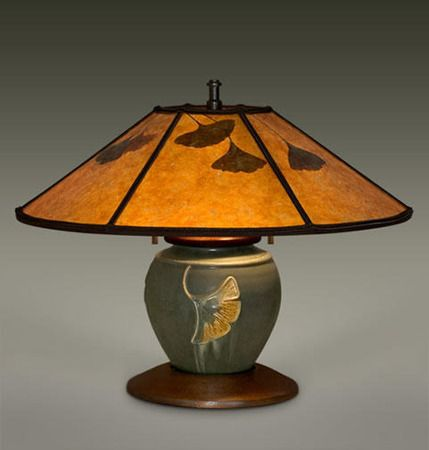 MADISON Ephraim Pottery Lamp , William Morris Studio, Mission Lighting