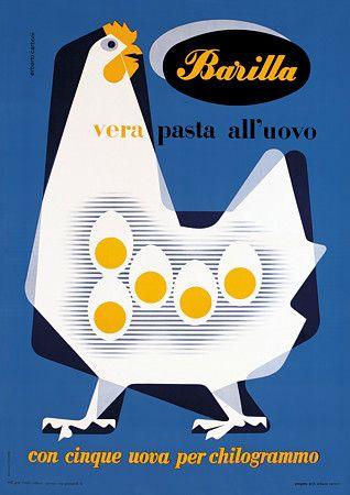 Italian Barilla egg pasta poster http://www.vintagevenus.com.au/products/vintage_poster_print-fd357