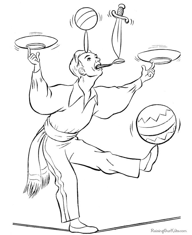 printable coloring pages circus | 52 best Circus Coloring Pages images on Pinterest ...