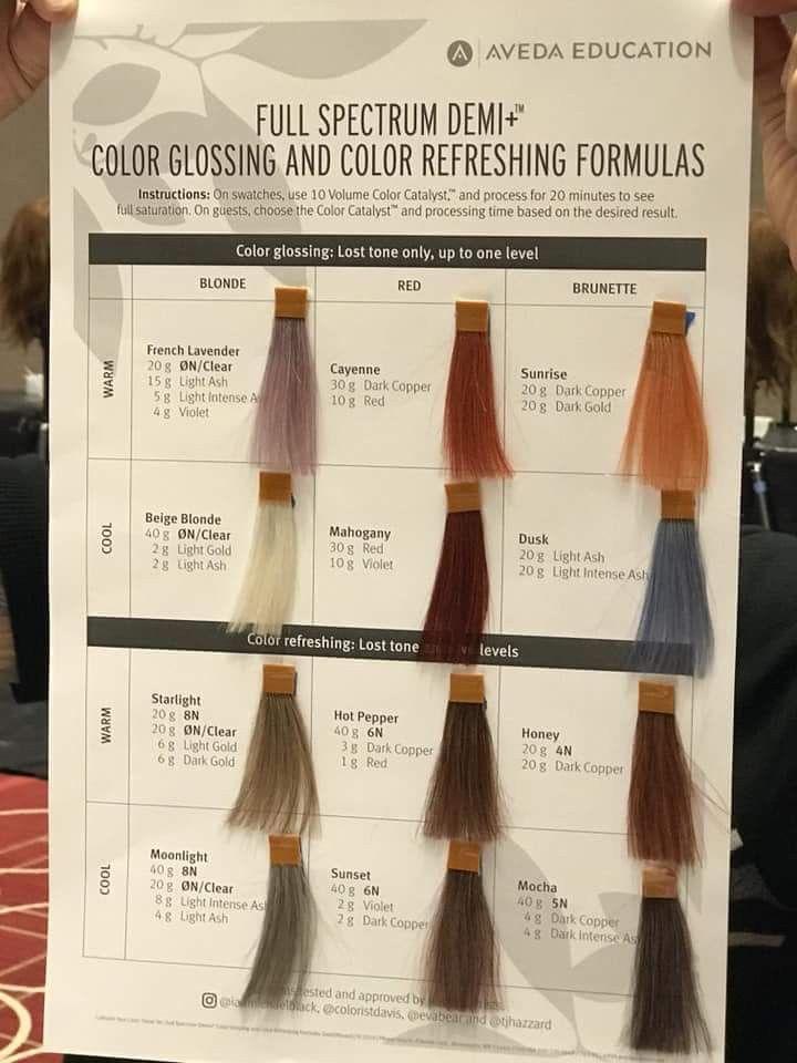 9e04247c22 Pin by Lezleigh Marshall on Aveda formulas in 2019 | Aveda hair color,  Aveda hair, Hair color formulas