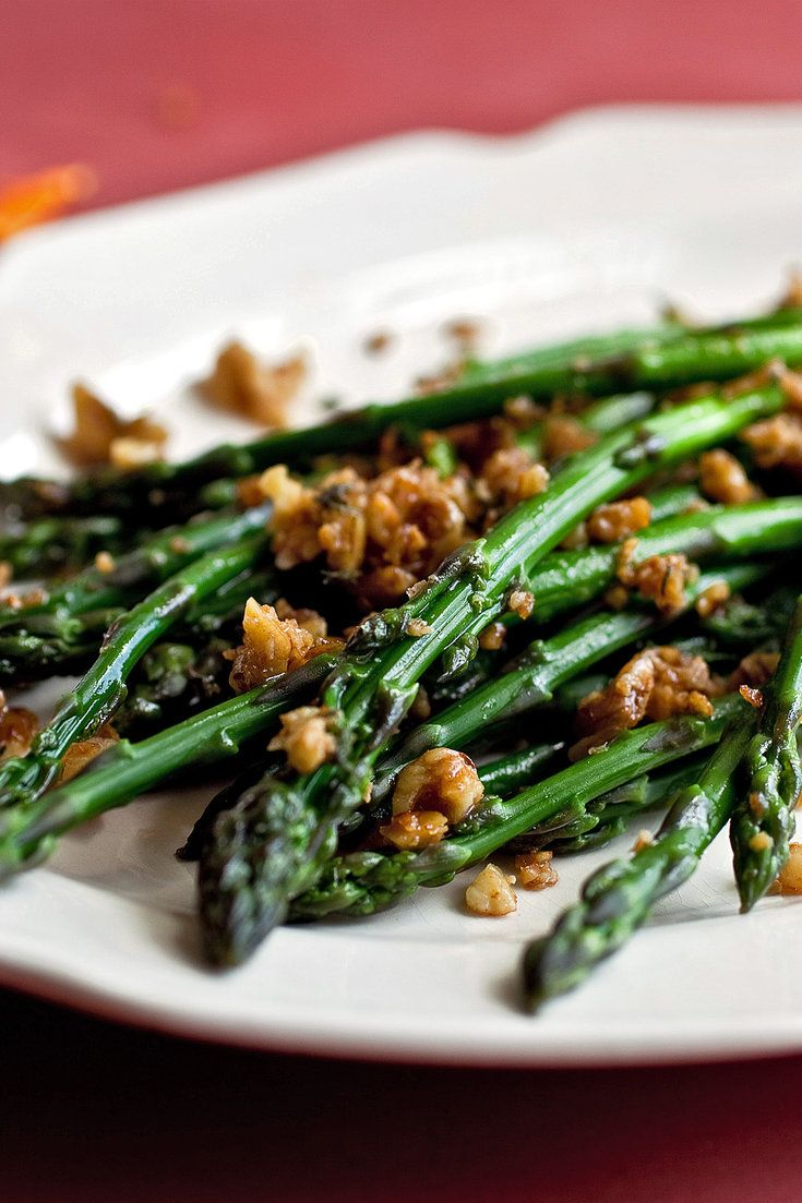 Asparagus With Walnuts, Parmesan and Brown Butter Recipe - NYT Cooking