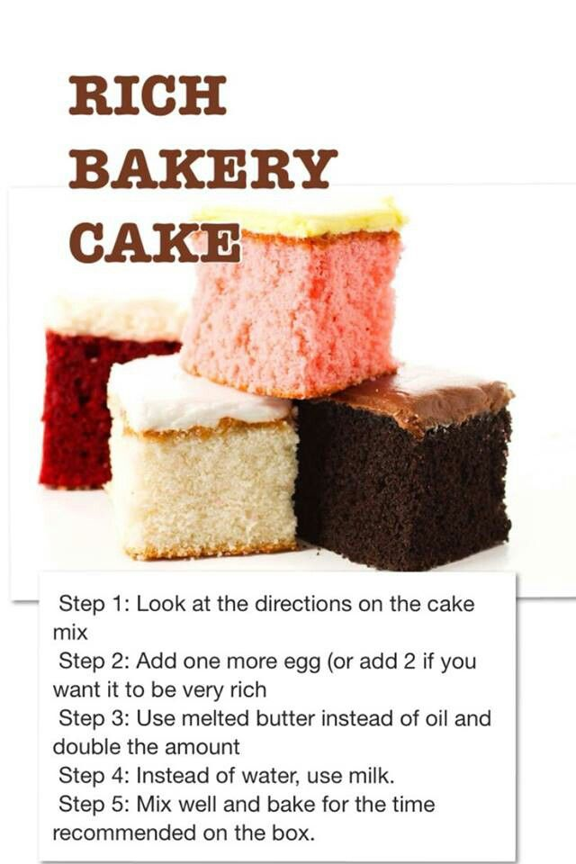 How to make box taste like bakery (I used a box cake, 2 extra eggs, melted butter and milk - cake didn't set up correctly and was not moist.)