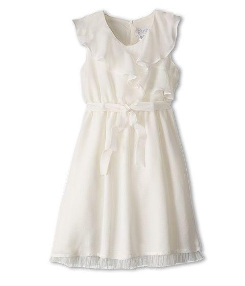 Us Angels Sleeveless Ruffle Front Waisted Dress (Big Kids)