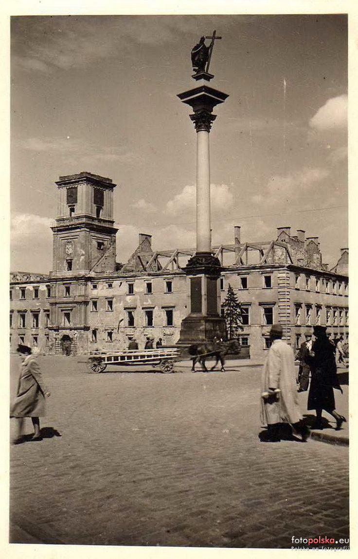 Zamek Królewski, Warszawa - 1941 rok, stare zdjęcia