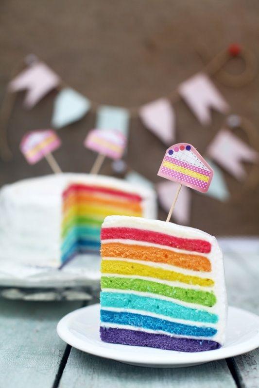 Просто&Вкусно - Торты - Rainbow cake