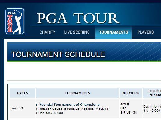 When is the next PGA TOUR  #golf tournament?