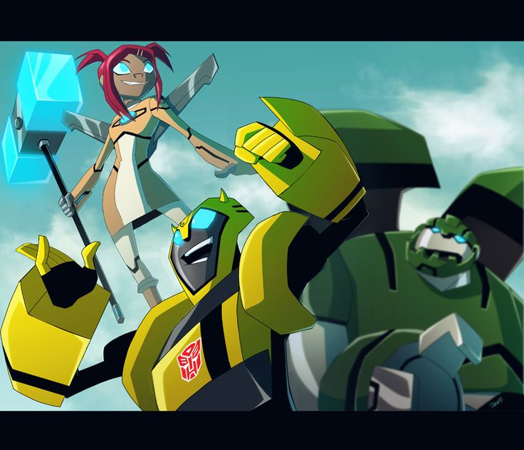 Cool Patrol by PriscillaTR.deviantart.com on @DeviantArt Bumbles and Sari now are fighting the crime, Bulkhead does not approve it