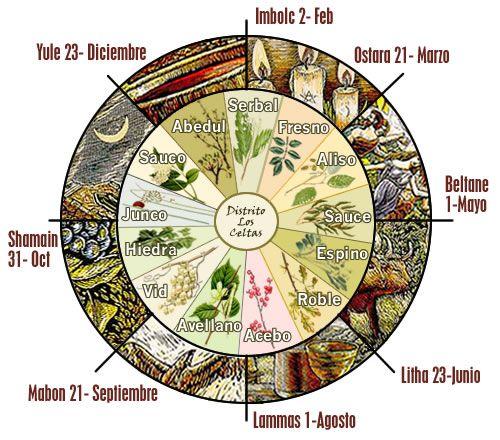 """""""La Rueda del Año"""". Queramos o no, estamos fluyendo en armonía con los ciclos de la Tierra. Celebrar los sabbats como nuestros antepasados celtas es una forma especial de celebrar la Vida, sentirnos parte de un todo mayor y de aprovechar la energía de cada momento para crecer interiormente ¡Feliz Rueda de la Vida! :-)"""