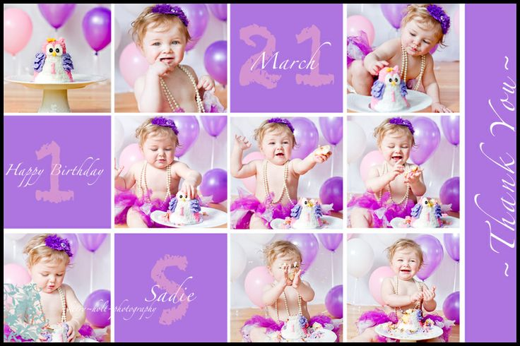 Cake Smash, Photography, Little Girl, Owl, Purple.