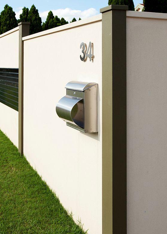 Customised panel mounted letterbox.