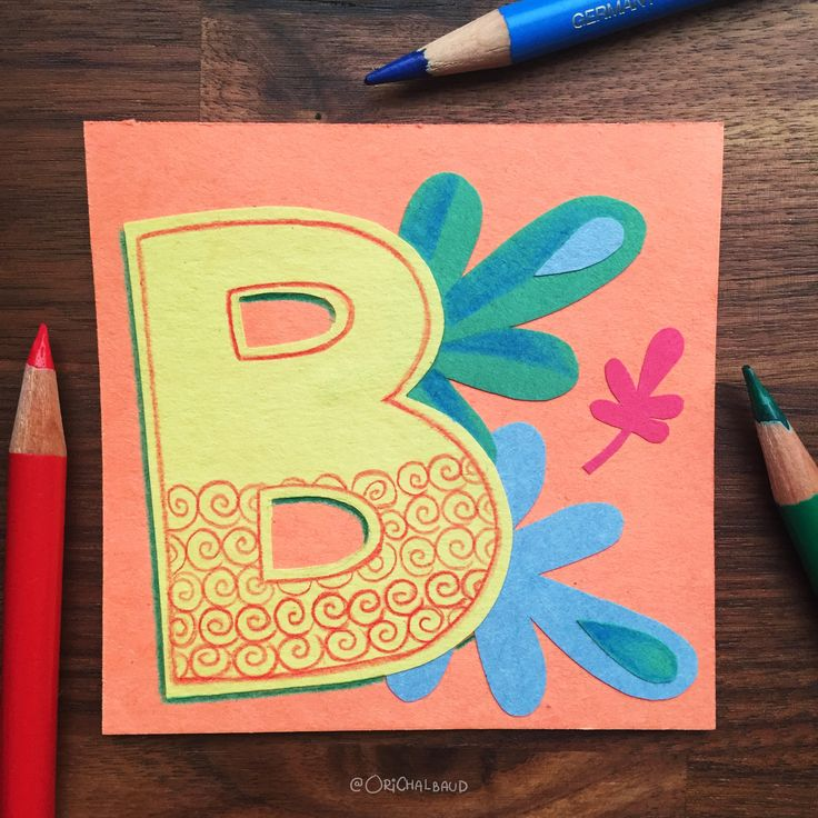 Letter B!. This is part of a paper art type I'm making for 36 days of type and also part of my 100 days project about paper art! :)