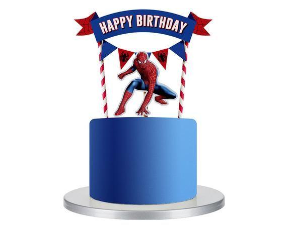 Marvelous Spiderman Cake Topper Spiderman Birthday Party Spiderman Funny Birthday Cards Online Unhofree Goldxyz