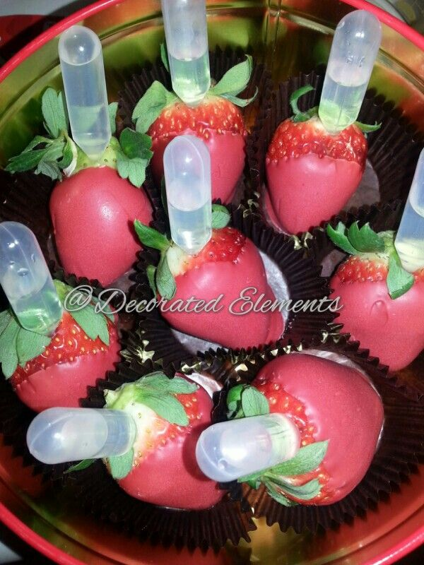 Whipped Pinnacle Infused Chocolate Covered Strawberries