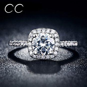 925 Roxi joyería Midi Finger cuadrados Anillo de compromiso de la boda anillos para mujeres Vintage Anillo Bague femme Bijoux accesorios MSR035