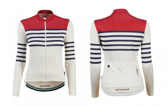 Womens long sleeve cycling jersey Claudette