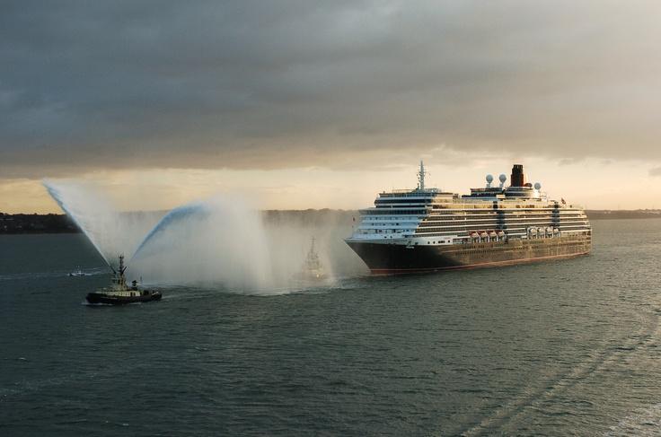 Queen Victoria arrives in Southampton.
