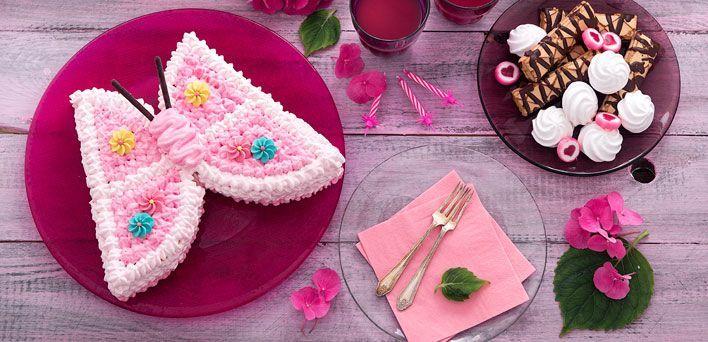 Torta farfalla. Per leggere la ricetta: http://myhome.bormioliroccocasa.it/myhome/it/home/spazio-alle-idee/mani-in-pasta/torta-farfalla.html