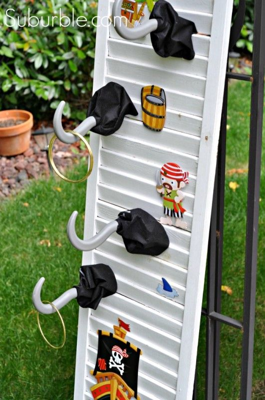 Pirate Party Games: Captain Hook's Ring Toss! - Create this simple and easy game with dollar store items! Suburble